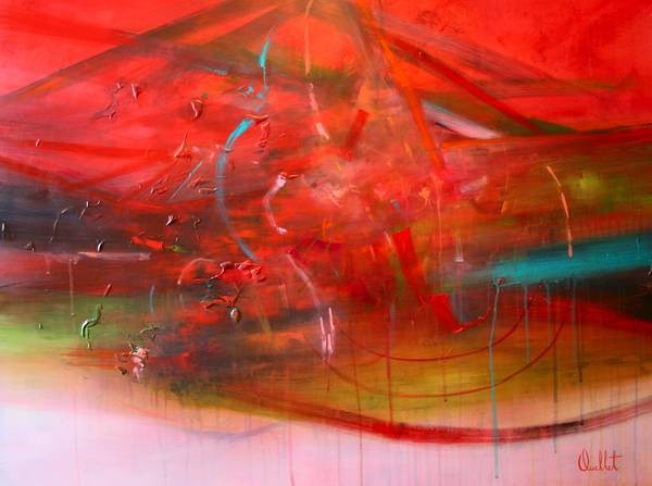 Admirer la vie qui passe au travers de nos doigts, de l'artiste Sophie Ouellet, Tableau, acrylique sur bois , Création unique, dimension : 30 x 40 po de largeur