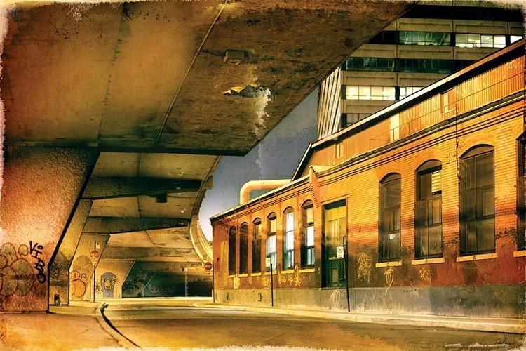 Barry sur le mur, 17/25, de l'artiste Pascal Normand, Estampe numérique, technique mixte, dimension : 32 x 48 po de largeur
