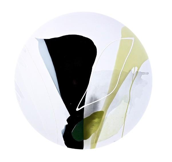 Be the change, de l'artiste Vanessa Sylvain, Tableau, Acrylique sur toile, Création unique, dimension : 40 po, rond