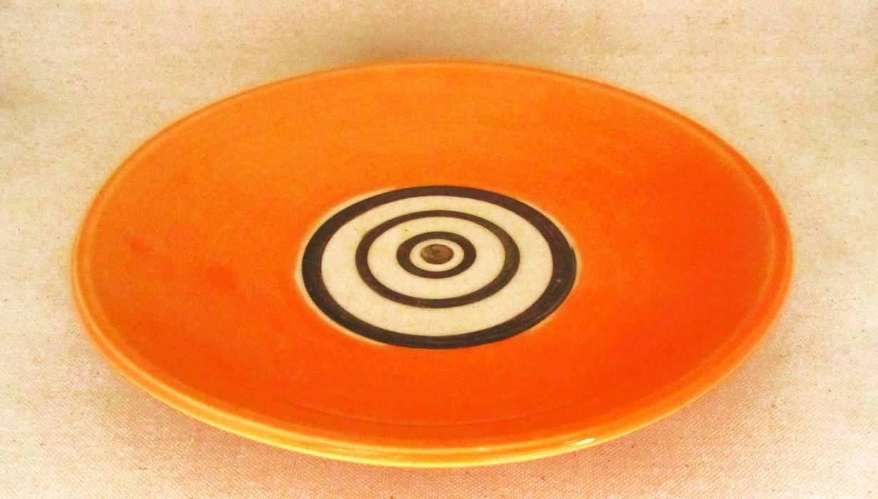 Bol assiette, clémentine, # 31, moyenne, de l'artiste Créations Ratté, medium : céramique, objet utilitaire cuit à très haute température, résistant au four, au micro-onde et au lave-vaisselle