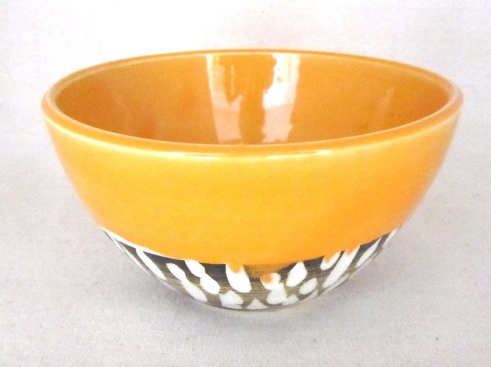 Bol, aqua, # 26, de l'artiste Créations Ratté, medium : céramique, objet utilitaire cuit à très haute température, résistant au four, au micro-onde et au lave-vaisselle