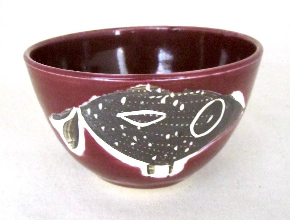 Bol, prune, # 37, de l'artiste Créations Ratté, medium : céramique, objet utilitaire cuit à très haute température, résistant au four, au micro-onde et au lave-vaisselle