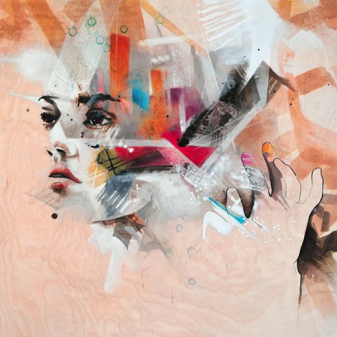Carte de souhaits 5x5, Signs of a beautiful day, de l'artiste Marie Chantal Le Breton, dimension : 5 x 5 pouces largeur, sans texte, avec enveloppe  Vous pouvez inscrire votre message à l'intérieur.  Carte vendue à l'unité