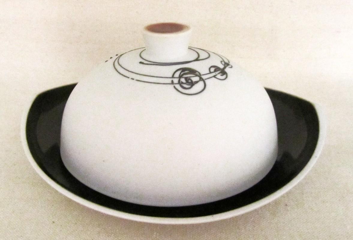 Beurrier, # 2, de l'artiste Elizabeth Hamel, medium : céramique porcelaine blanche
