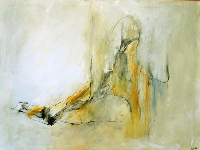 Émergence, de l'artiste Benoit Genest Rouillier, Tableau, Acrylique sur toile, Création unique, dimension : 30 x 40 po de largeur