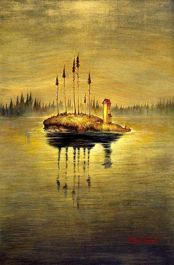 Finlande, affiche, de l'artiste Félix Girard, sur papier Hahnemühle Fine Art Photo Rag avec de l'encre à pigment, dimension : 18 x 14 pouces de largeur, affiche prête à être encadrée
