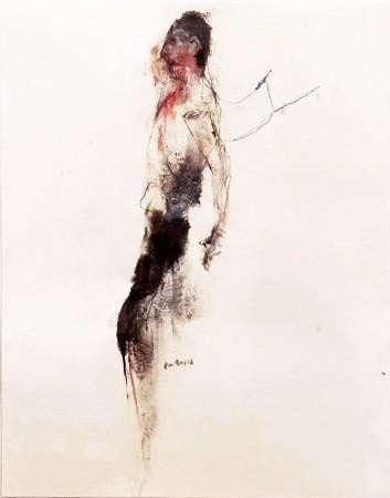 Frein à la jalousie, de l'artiste Benoit Genest Rouillier, Oeuvre sur papier, Techniques mixtes, Création unique, dimension : 13.75 po x 10.5 po de largeur
