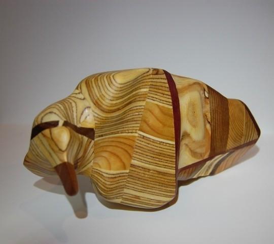 Roche (grosse), # 75, de l'artiste Claudia Côté, Sculpture, Bois mixte, Création unique