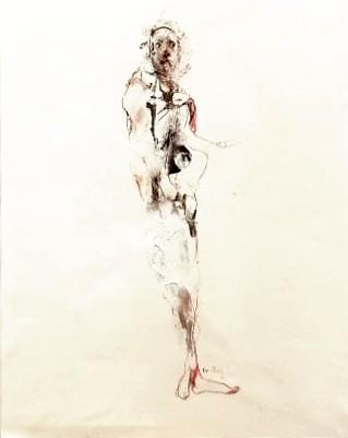 Intense comme les roses, de l'artiste Benoit Genest Rouillier, Oeuvre sur papier, Techniques mixtes, Création unique, dimension : 13.75 po x 10.5 po de largeur