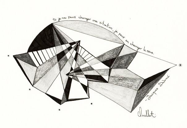 Jacques Salomé (o.encadrée), de l'artiste Sophie Ouellet, Oeuvre sur papier sans acides, Graphite, Création unique, dimension : 8 x 10 po de largeur