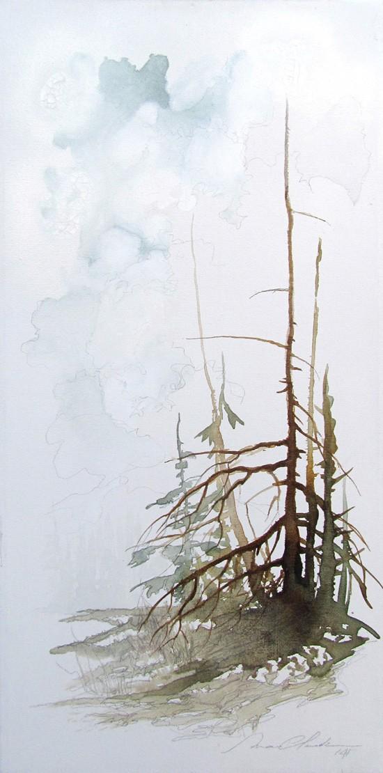 Keep Calm, de l'artiste Marie-Claude Bouchard, Tableau, Acrylique sur toile, Création unique, dimension 20 x 10 pouces de largeur