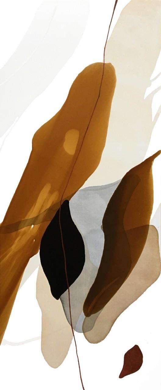 L'été des indiens, de l'artiste Vanessa Sylvain, Tableau, Acrylique sur toile, Création unique, dimension 48 x 20 pouces de largeur