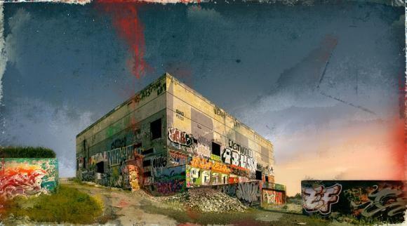 La Base, 4/25, de l'artiste Pascal Normand, Estampe numérique, technique mixte, dimension : 40 x 72 po de largeur