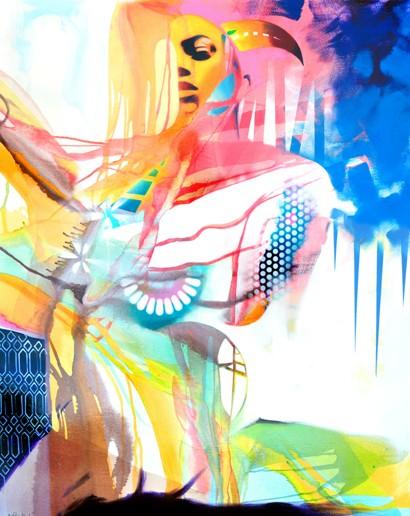 La vertu des cornus, de l'artiste Marie Chantal Le Breton, Tableau, Acrylique sur toile, dimension : 50 x 40 pouces de largeur