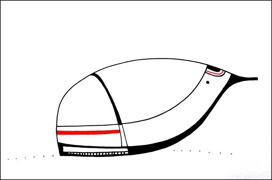 Pilote 79, # 24, de l'artiste Kirkov, Oeuvre sur papier, encre, dimension : 6 x 9 po de largeur
