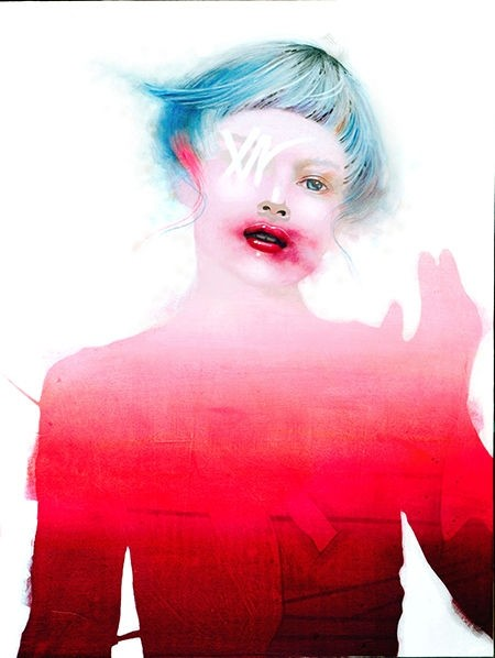 When the water flows-2, de l'artiste Marie Chantal Le Breton, Tableau, Acrylique sur bois, Création unique, dimension : 24 x 18 po de largeur