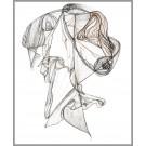 A013, de l'artiste Dorothée Couture, Dessin : Encre sur papier, Création unique, dimension 14 x 11 pouces de largeur