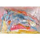 1967, dessin de l'artiste Benoit Genest Rouillier, Dessin, Stylo, pastel à l'huile sur carton, Création unique, dimension : 9 x 12 po de largeur