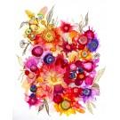 24 mai d'été, de l'artiste Nancy Létourneau, Oeuvre sur papier Yupo, médium encre à l'alcool, Création unique, dimension 26 x 20 de largeur