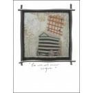 Carte de souhaits 7x5, La vie est un cirque, de l'artiste Anik Lachance, dimension : 7 x 5 pouces largeur, sans texte, avec enveloppe, Vous pouvez inscrire votre message à l'intérieur, Carte vendue à l'unité