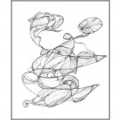 A004, de l'artiste Dorothée Couture, Dessin : Encre sur papier, Création unique, dimension 17 x 14 pouces de largeur