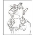A006, de l'artiste Dorothée Couture, Dessin : Encre sur papier, Création unique, dimension 17 x 14 pouces de largeur