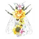 Affiche, Abeille florale, de l'artiste Katrinn Pelletier, dimension : 10 x 8 po de largeur