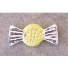 Aimant, # 40, Papillote verte, de l'artiste Créations Ratté, medium : céramique, décoration objet cuit à très haute température