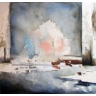 Force tranquille, de l'artiste Annie Lévesque, Série : La quête de sens, Tableau, Acrylique, pastel, crayon de couleur et graphite, Création unique, dimension : 48 x 48 po de largeur