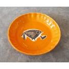 Assiette à tarte, # 3, clémentine, de l'artiste Créations Ratté, medium : céramique, objet utilitaire cuit à très haute température, résistant au four, au micro-onde et au lave-vaisselle