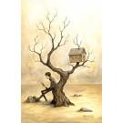 Auprès de mon arbre, affiche, de l'artiste Félix Girard, sur papier Hahnemühle Fine Art Photo Rag avec de l'encre à pigment, dimension : 19 x 13 pouces de largeur, affiche prête à être encadrée