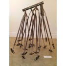 Branchamarteaux, de l'artiste Stéphane Langlois, Sculpture en acier, Création unique, dimension : 32 x 23 x 30 pouces