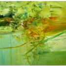 Beauté sensation, de l'artiste Sophie Ouellet, Tableau, acrylique sur toile, Création unique, dimension : 16 x 16 po de largeur