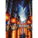 Carte de souhaits 7x5, Bleuté, de l'artiste Jean-Simon Bégin, dimension : 7 x 5 pouces largeur, sans texte, avec enveloppe, Vous pouvez inscrire votre message à l'intérieur, Carte vendue à l'unité