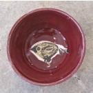 Bol à oeuf, # 1, prune, de l'artiste Créations Ratté, medium : céramique, objet utilitaire cuit à très haute température, résistant au four, au micro-onde et au lave-vaisselle, vue A