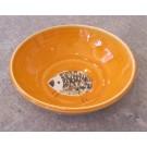 Bol à oeuf, # 3, clémentine, de l'artiste Créations Ratté, medium : céramique, objet utilitaire cuit à très haute température, résistant au four, au micro-onde et au lave-vaisselle, vue A