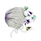 Affiche, Bonnet et Anémones, de l'artiste Katrinn Pelletier, dimension : 10 x 8 po de largeur