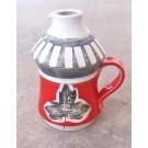 Bouteille à sirop d'érable, # 9, de l'artiste Créations Ratté, medium : céramique, objet utilitaire cuit à très haute température, résistant au four, au micro-onde et au lave-vaisselle