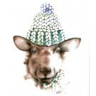Affiche, Breton le mouton, de l'artiste Katrinn Pelletier, dimension : 10 x 8 po de largeur