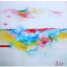 Carte de souhaits 5x5, Écouter le silence, de l'artiste Sophie Ouellet, dimension : 5 x 5 pouces largeur, sans texte, avec enveloppe, Vous pouvez inscrire votre message à l'intérieur, Carte vendue à l'unité