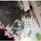 Carte de souhaits 5x5, Le vent nous portera, de l'artiste Marie Chantal Le Breton, dimension : 5 x 5 pouces largeur, sans texte, avec enveloppe  Vous pouvez inscrire votre message à l'intérieur.  Carte vendue à l'unité