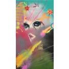Carte de souhaits 7x4, Voeux de Bengale, de l'artiste Marie Chantal Le Breton, dimension : 7 x 3.75 pouces largeur, sans texte, avec enveloppe  Vous pouvez inscrire votre message à l'intérieur.  Carte vendue à l'unité
