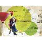 Carte postale 5x7, Thé dansant, Ni Vu Ni Cornu, dimension : 5 x 7 pouces de largeur, Les cartes postales peuvent être encadrées et se présentées sous format tableau.