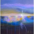 Ce qui me fonde (t.encadré), de l'artiste Sophie Ouellet, Tableau, acrylique sur toile cartonnée, Création unique, dimension : 12 x 12 po de largeur