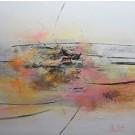 Chercher le nord, de l'artiste Sophie Ouellet, Tableau, acrylique sur toile cartonnée, Création unique, dimension : 16 x 16 po de largeur