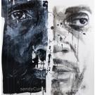Climat, de l'artiste Sandy Cunningham, Tableau, Acrylique sur toile, Création unique, dimension : 30 x 30 po de largeur