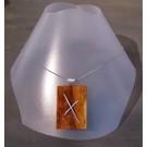 Collier unique, no 4, de l'artiste Le Forestier, Bijou fait de bois, longueur maximale 20 pouces