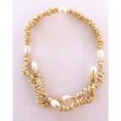 Collier BOA COMPRESSÉ, no 4, de l'artiste Sandrine Giraud, Paris, Ce bijou modulable, toujours original, marie avec élégance la grâce des perles avec l'originalité des lignes résolument contemporaines. vue B