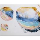 Comète (série Escapade), de l'artiste Zoé Boivin, Tableau, Médiums mixtes sur toile, Création unique, dimension 22 x 28 pouces de largeur