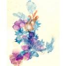 Douce poésie (o.encadrée), de l'artiste Marie-Pier Sanfaçon, Sur papier Yupo, oeuvre encadrée, techniques mixtes, Création unique, dimension : 14 x 11 po de largeur